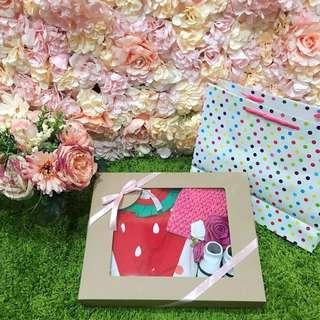 🚚 現貨獨家-日系純棉寶寶嬰兒水果造型和服 彌月禮盒 滿月禮盒 拍照 寫真