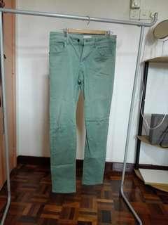 Uniqlo Green Jeans