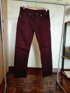 Uniqlo Dark Red Jeans