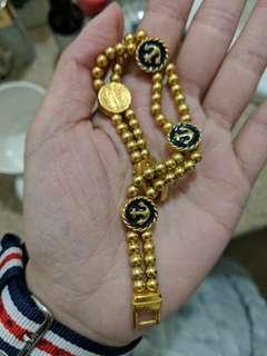 Chanel inspired carolee brand bracelet anchor gold color vintage