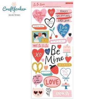 🚚 ★Stickers★ La La Love Valentine Cardstock Stickers by Crate Paper