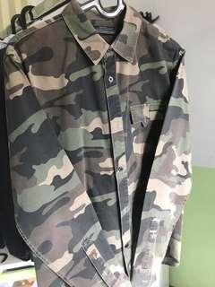 Camo shirt bershka