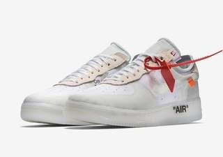 OFF-WHITE X Nike Air Force 1 Low (White)