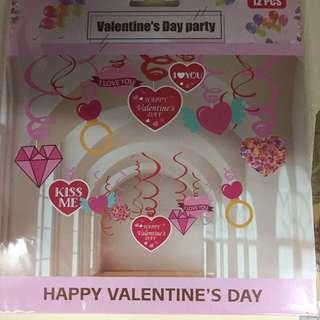 Valentine Hanging Spirals