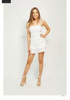 White Tassel Mini Dress