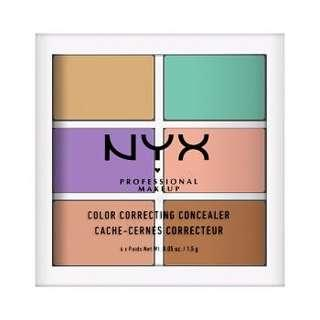 NYX 6色調色遮瑕盤
