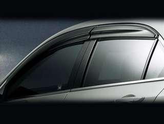 Honda Civic FD Window Visor Honda Fit Window Visor Black Mugen Style
