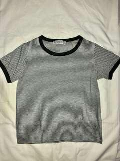 Pull&Bear Gray Striped Shirt