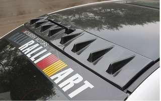 Mitsubishi Lancer EX GT Roof Vortex Fins Eyelids Fender Vent