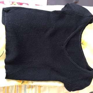 Kaos Zara Hitam Knit