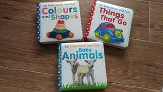DK Baby Touch and Feel Books (set of 3)