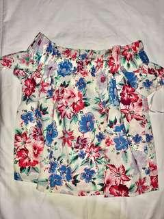 Gap Floral Off-shoulder top