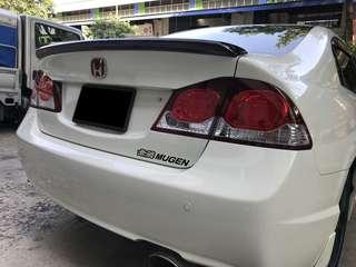 2006-2011 Honda Civic FD Roof Spoiler Lip Boot Lip and other accessories