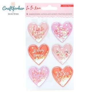 🚚 ★Stickers★ La La Love Heart Shaker Stickers Valentine