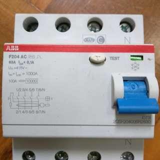 ABB 4 Pole Type AC Residual Current Circuit Breaker