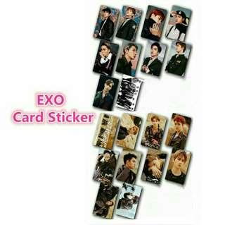 PREORDER EXO DONT MESS UP MY TEMPO CARD STICKER