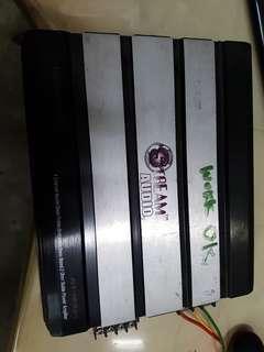 Power amplifier  Stream audio 1200watts 4 channel