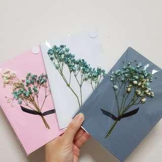 [CUSTOMISE] Dyed Baby Breath Valentines Card