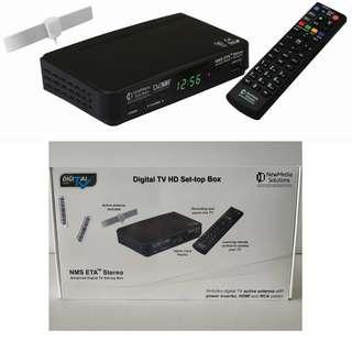 [REASONABLE NEGOTIATE ALLOW] NEWMEDIA SOLUTIONS STB2-T2+ANT2-3A DVB-T2 SET-TOP BOX BUNDLE WITH ANTENNA
