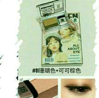🚚 16Brand雜誌懶人漸層彩妝眼影盤