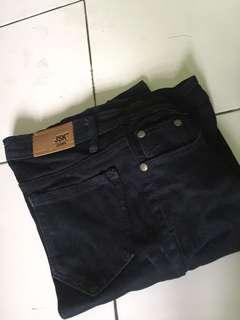 JSK celana jeans hitam