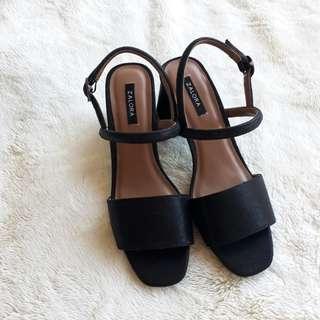Zalora Black Slingback shoes