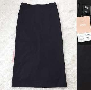 VL8466 G2000 black pencil midi skirt