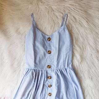 ‼️REPRICED‼️Button Dress - Light Blue