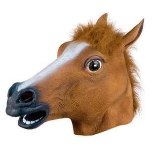 Novelty Horse Head Mask Creepy Prank Mask Latex