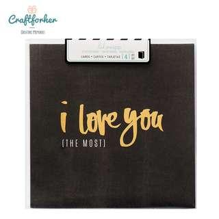🚚 ★Cards★ I Love You The Most Square Cards 4pcs by Heidi Swapp for Valentine