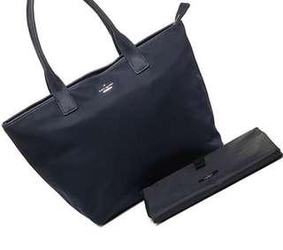 Kate Spade Brynne Baby Diaper Bag Classic Nylon Black Travel Tote