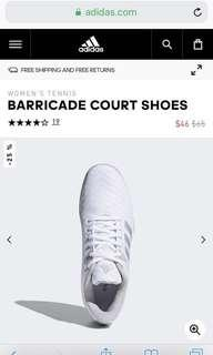 Secondhand Women's tennis Barricade court shoes