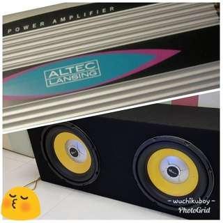 Subwoofers + Amplifier = $300