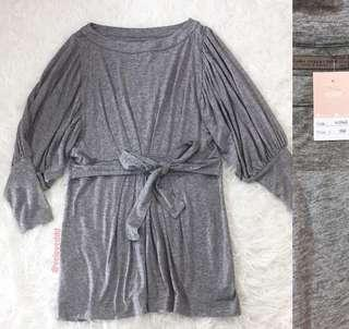 VL8468 Zara collection grey marl puff sleeve casual dress