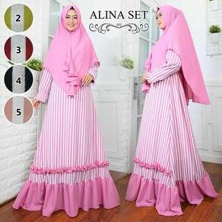 5 colors jubah and khimar set