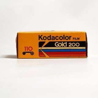 Kodak Gold 200 110 Format 12EXP Color Negative Film Dated 1990