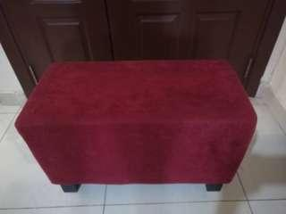 Red velvet stool