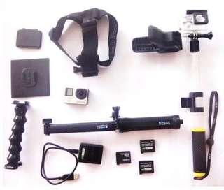 2nd Hand Go Pro Hero 4 Silver Complete Set (REPRICED) #buytoget