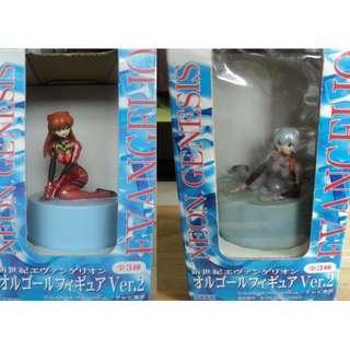 Evangelion Music Box set of 2 (Rei and Asuka)