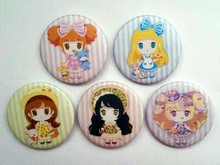 Lolita Girls Button Badges #CNY888
