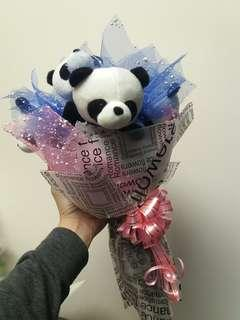 5pcs 14cm panda bouquet (BEST FOR GIFTS!)