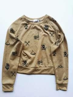 Beige pullover top