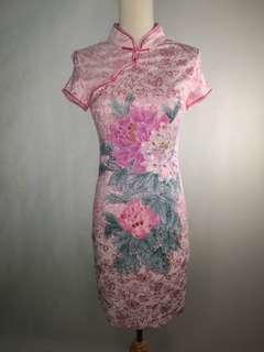 Pink rose Cheongsam