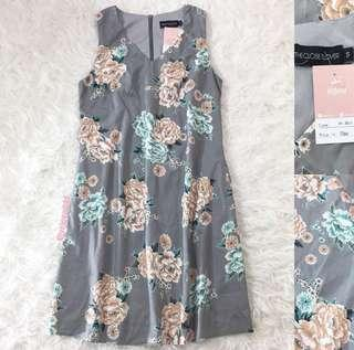VL8611 The closet lover grey floral dress