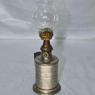 ANTIQUE VINTAGE FRENCH LA FLAMBOYANTE OIL LAMP