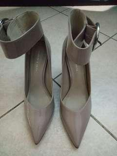 Charles & Keith 3 inch Pointed Strap Heels