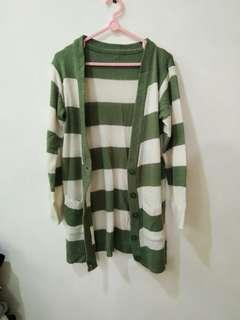 STRIPE CARDIGAN OUTER KNIT