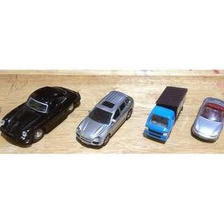 Set of 4 Porsche Diecast Cars