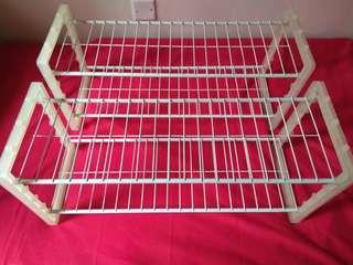 2-layer iron-rubber rack 2層架 H高30cm W寬62cm D深25cm