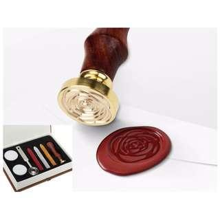 Wax Seal Box Stamp Set Easy to Use Sealing Wax Art Activity